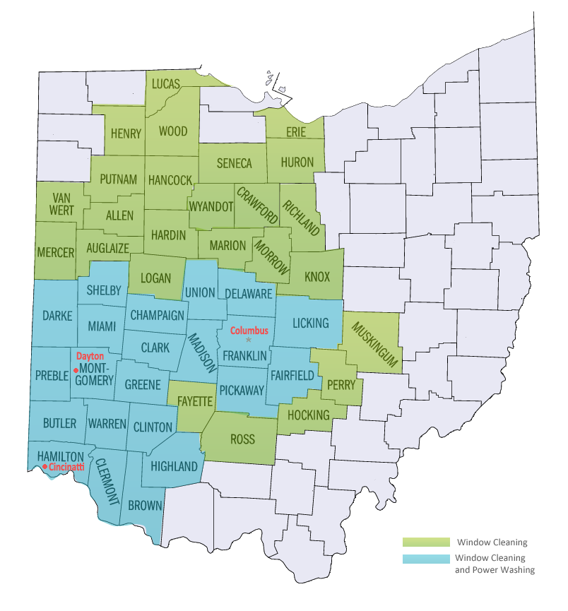 Lima Ohio Zip Code Map.Dayton Window Cleaning Pressure Washing Ohio Window Cleaning